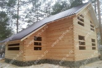 Строительство деревянного дома по проекту Рысь