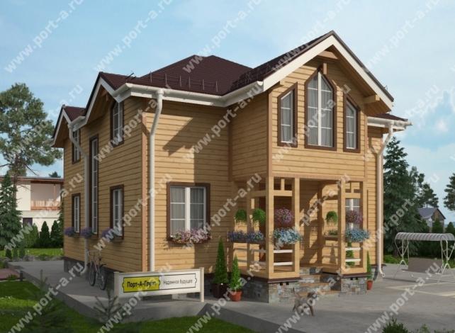 Строительство дома по проекту Рыцарь. План 1 этажа